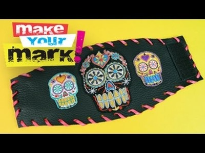 How to Make a Leather & Patch Cuff DIY