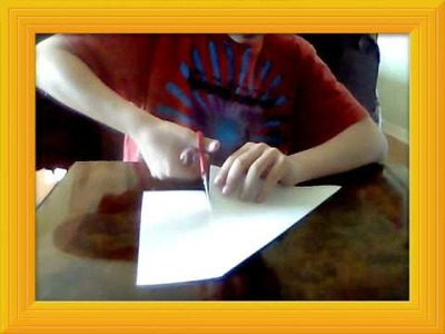 How to make a paper Ninja Star, the fast way.