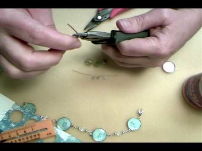 How to make a wrapped loop link bracelet