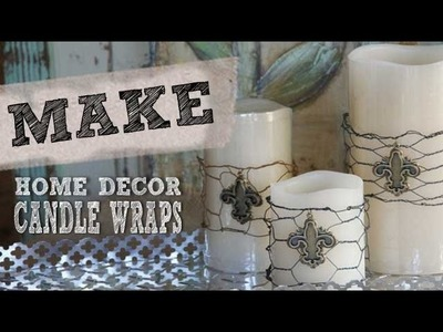 How to make Candle Wraps for any season - DIY and Home Decor