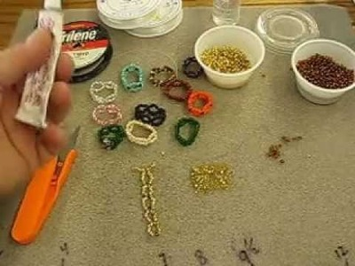 "How to make these ""finger lace"" beaded rings;  simple & easy, great for craft shows"