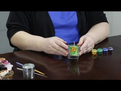 How to Paint Glass Votive Candle Holders : Craft Projects With Paint