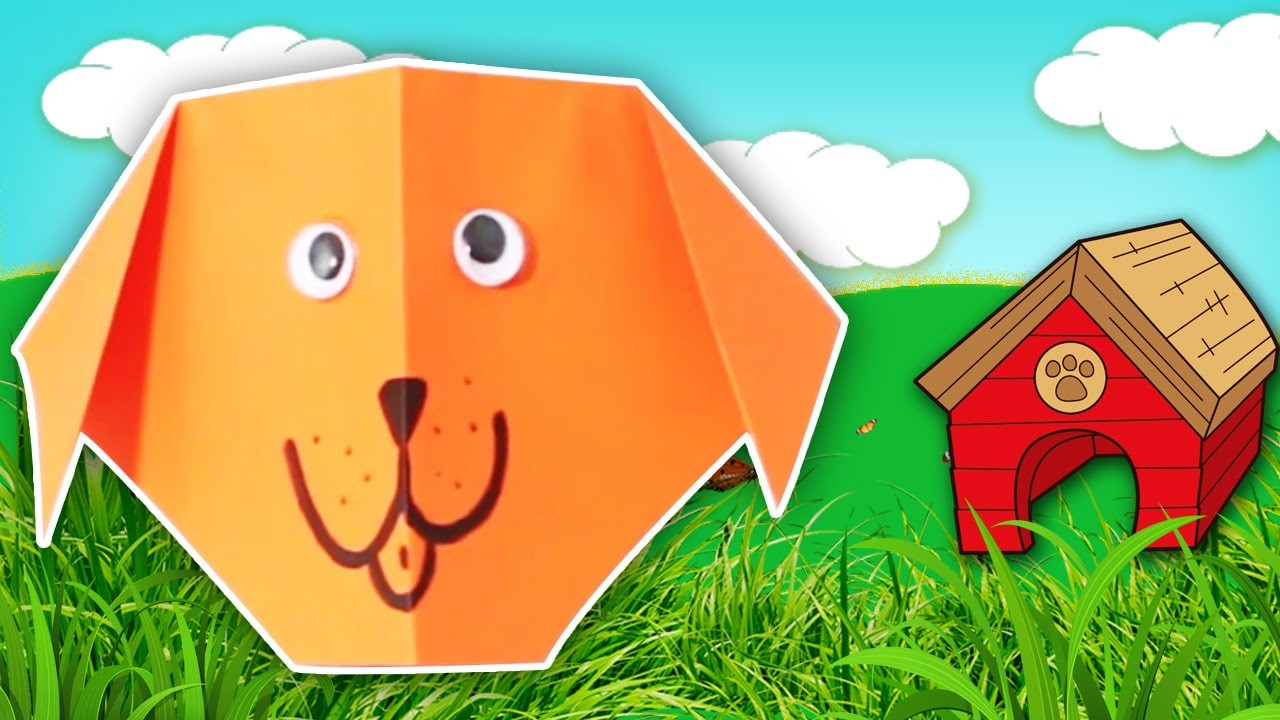 Learn how to make a Cute Origami Dog | Easy DIY Tutorials | Kids Home decor Tips