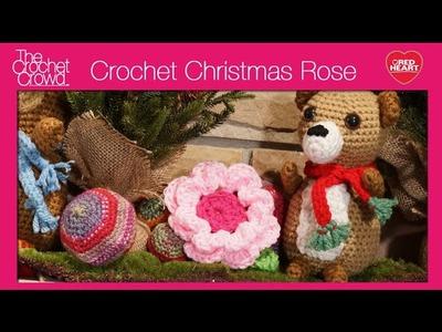 Left Hand: Crochet Christmas Rose