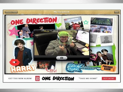 One Direction Scrapbook App for iPad.iPhone