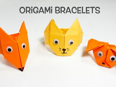 Origami  Bracelets | Fun Origami Craft Ideas for Kids.