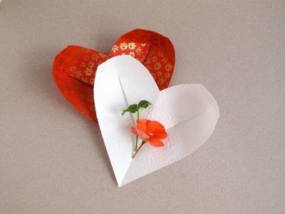 Origami Heart-Dish • Corazón de papel