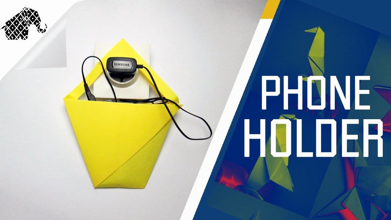 Origami - How To Make An Origami Phone Charger Holder