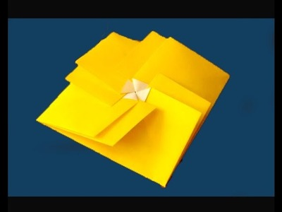 Origami square envelope. Easy and rich. Claudine's Tato. Ideas for gift wrapping