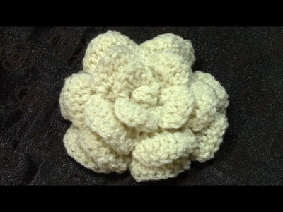 Part 2, Crochet Flower Tutorial, DIY, Slow Motion Details