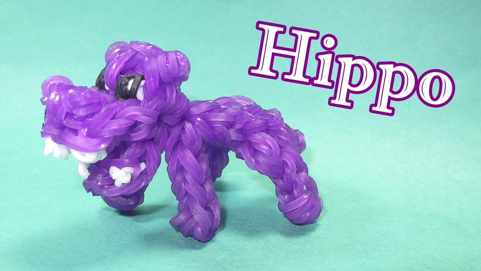 Rainbow Loom: HIPPO Charm (Animals) DIY Mommy