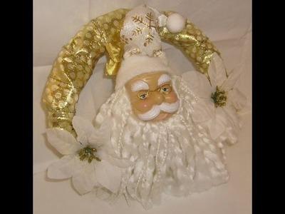 Santa Claus Christmas Wreath