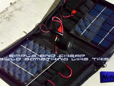 Surviving with a solar USB charger - (DIY)