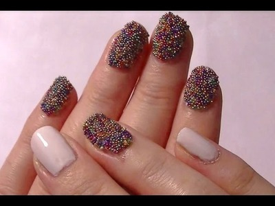 The 'Definitely NOT a Caviar Manicure Nail Tutorial' - 'Fish Egg' 3D Bead Nail Art!