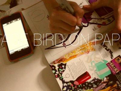 Tumblr room flying birds DIY
