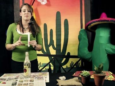 06 - DIY Mexican themed centerpiece