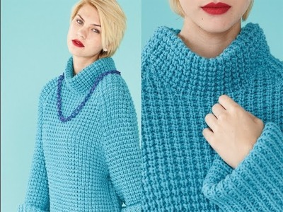 #28 Mullet-hem Pullover, Vogue Knitting Fall 2013