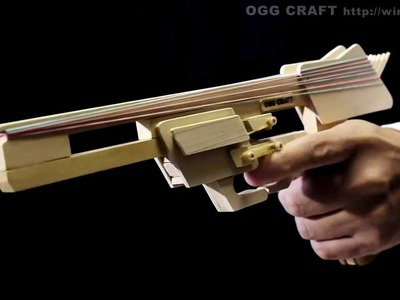 Auto Return, 8 rounds Rubber Band Hand Gun. oggcraft.jp