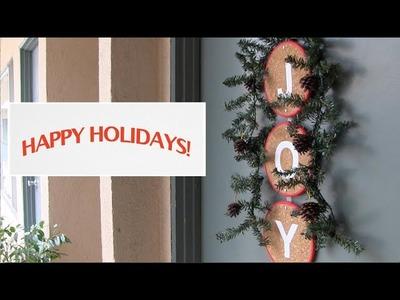 Christmas Decorating Ideas - front door wreath: Season 2, Ep 10