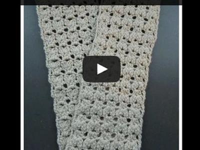 Cozy Crochet Flat Bobble Shell Scarf - Beginner Level