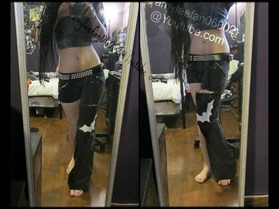 DIY bat design one half pants
