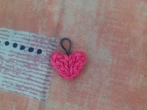 DIY cuore con elastici rainbowloom heart charms