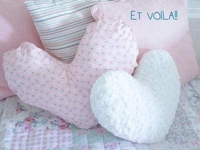 DIY heart pillow  ♡  NO SEW