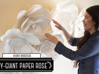 "DIY How to Make a Paper Flower Backdrop ""Rose"". Como Hacer un Mural de Flores de Papel ""Rosa"""