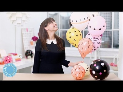 DIY Painted Party Balloons - DIY Style - Martha Stewart
