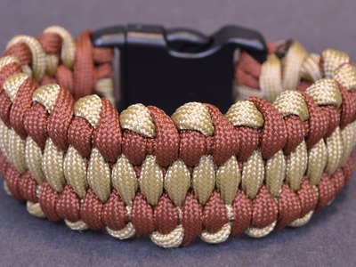DIY the Wide Dragons Tongue Paracord Bracelet - BoredParacord