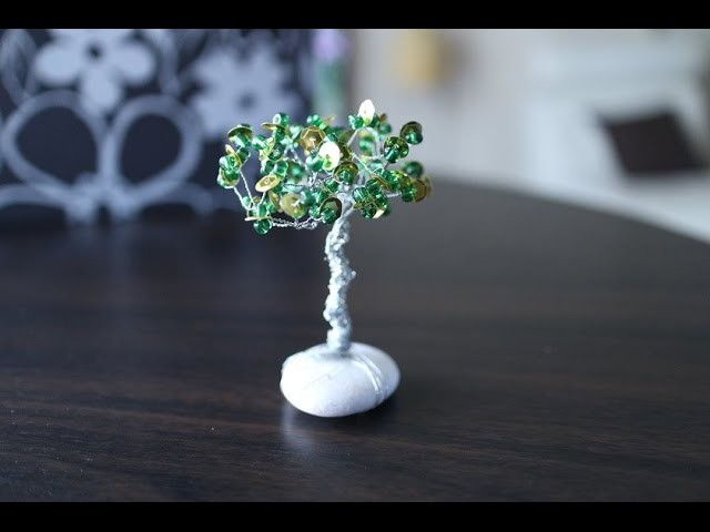 Drvce sa sitnim perlicama. How to make a wire tree with small beads?