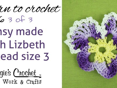 Free Crochet Pattern Pansy with Lizbeth Thread Part 3 of 3