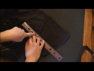 "Goth DIY: ""Corset Laced"" T-Shirt Cutting Tutorial"