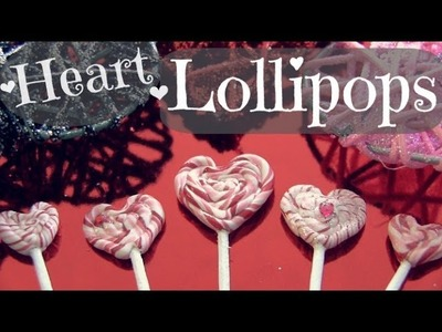 Heart Lollipop - Polymer Clay Charm - How To - Valentine's Day