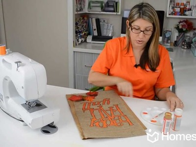 Homes.com DIY Experts: How-to Make a Fall Garden Flag