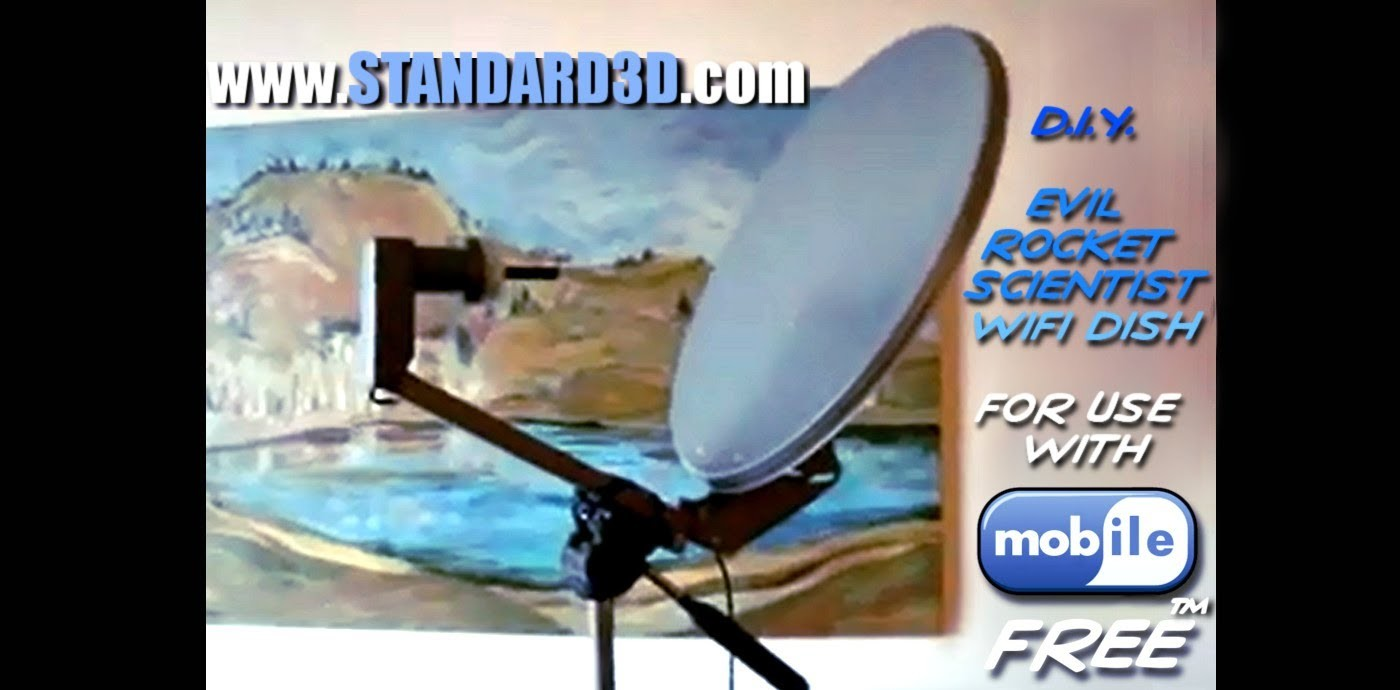 How to build a DIY long range wireless usb free wifi antenna satellite dish booster tutorial 2015