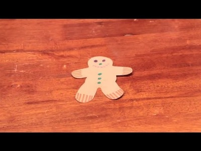 How to Decorate a Paper Gingerbread Man Without Using Glue : Arts & Crafts