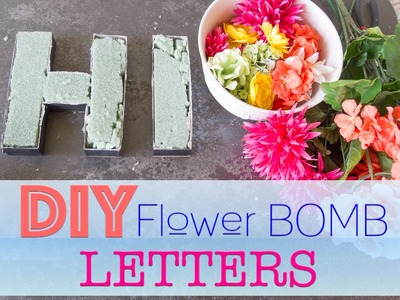 HOW TO: DIY Flower Letters