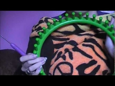 HOW TO LOOM KNIT A HAT PART 1 CASTING ON