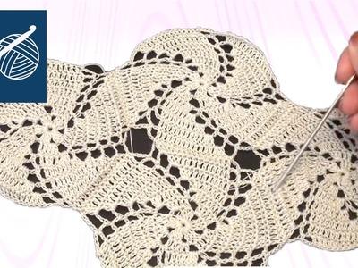 How to make a Crochet Thread Swirl Joined Left Hand Crochet Geek