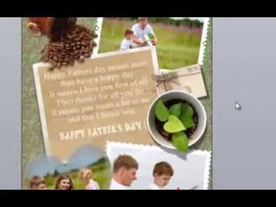 How to Make a Father's Day Card Using Picture Collage Maker