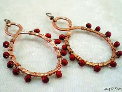How to Make Bead Wrapped Hammered Wire Earrings