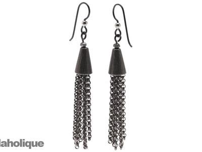 How to Make Chain Tassel Earrings