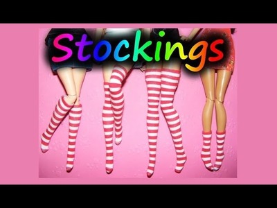 How to make doll clothes - Stockings, Overknees, Socks