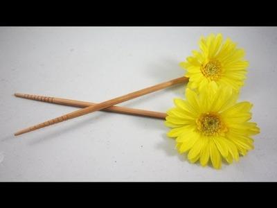 How to make flower hair sticks - EP
