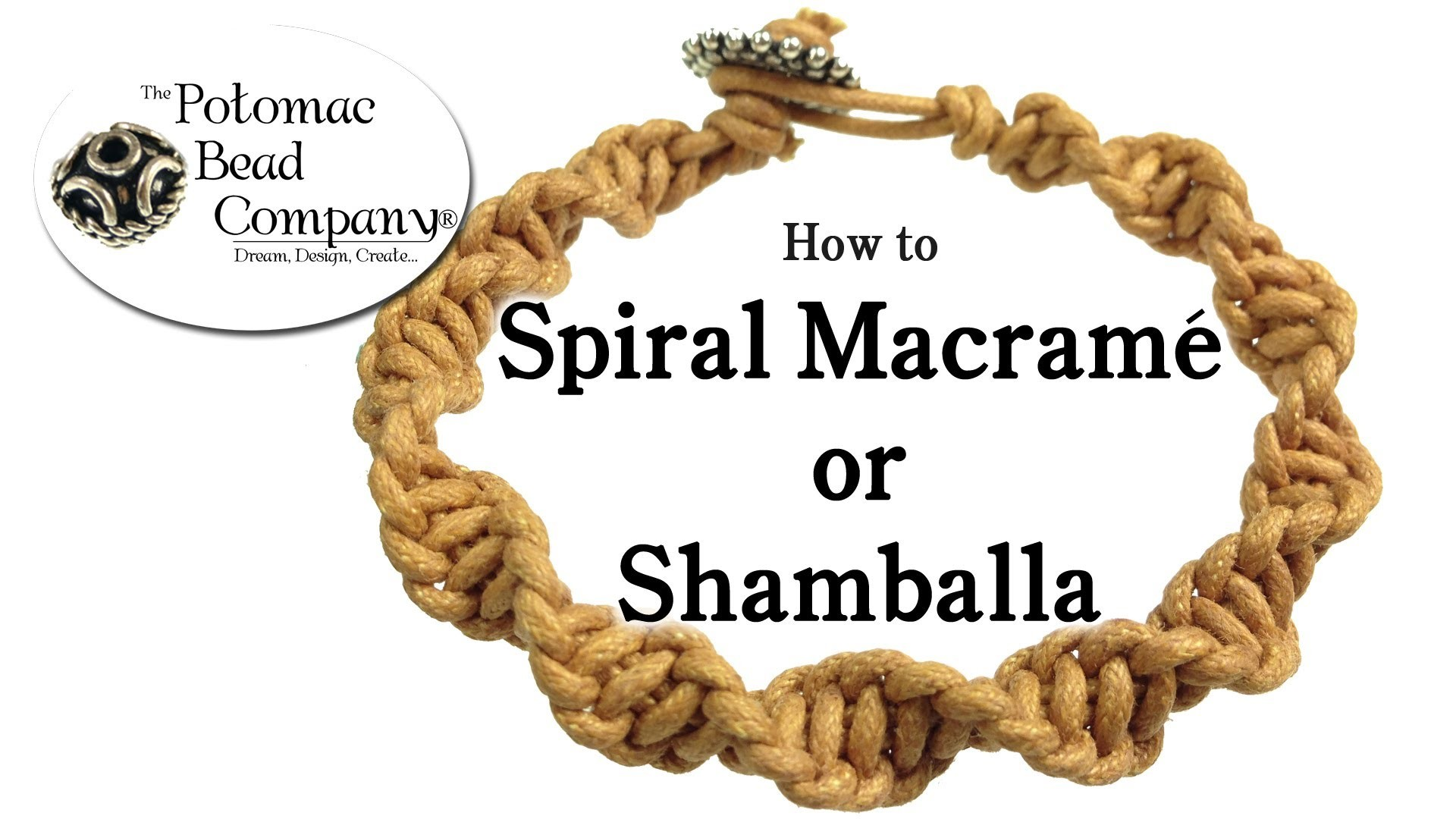 How to Spiral Macrame (Shamballa) Bracelet