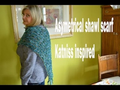 Katniss inspired knitted asymetrical scarf