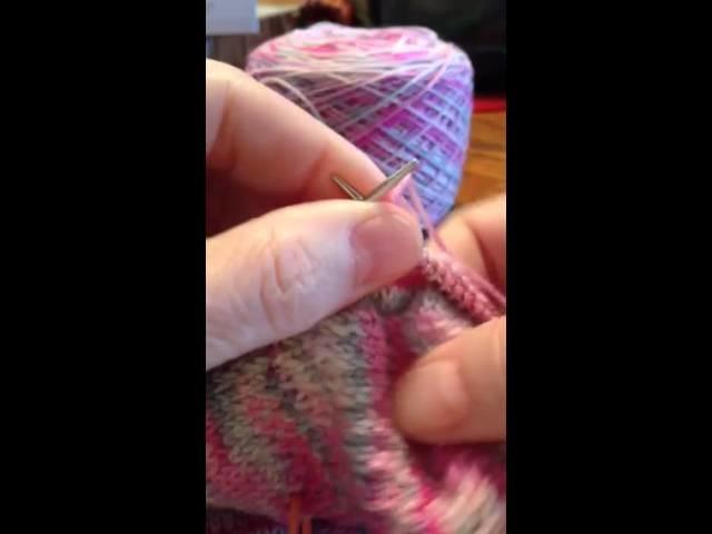 "Knitting: Using an 8"" Circular Needle for Socks"