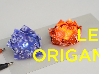 LED Origami - Lotus Flower & Frog