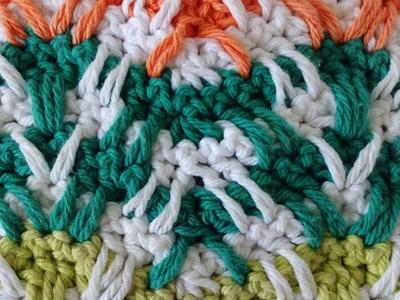 Mosaic Plaid Ripple Free Crochet Pattern - Right Handed